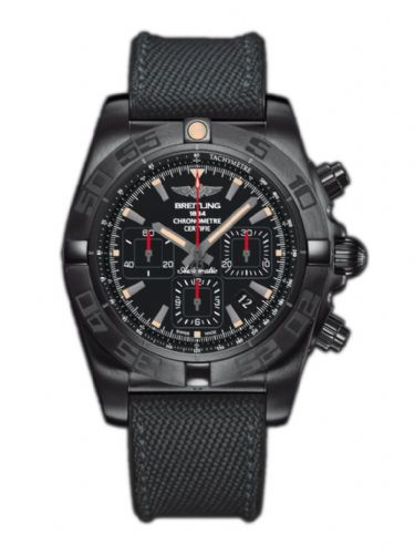 BREITLING Chronomat 44 Blacksteel AUTO Chronograph Gents Watch MB0111C3/BE35-253S
